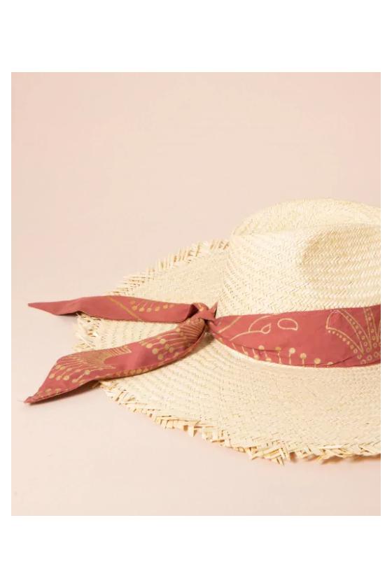 Chapeau de Paille 'Maradji' Balthazar Pomelo
