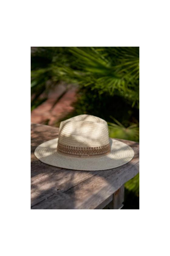 Chapeau de Paille 'Maradji' Rosalie Ecru