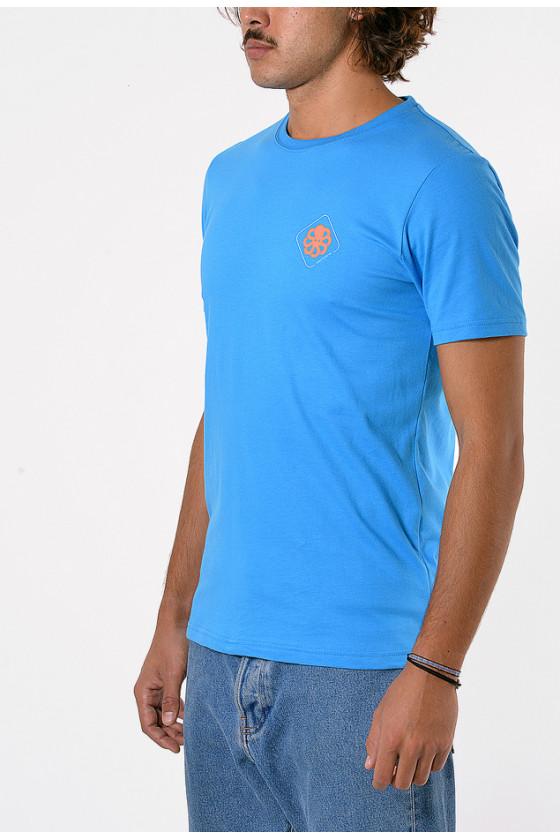 T-shirt 'Jonsen Island' Big Label Blue