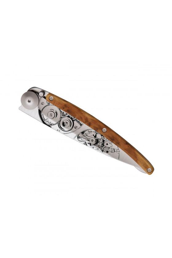 Couteau Deejo Tattoo 37G - Garde Temps - Genevrier