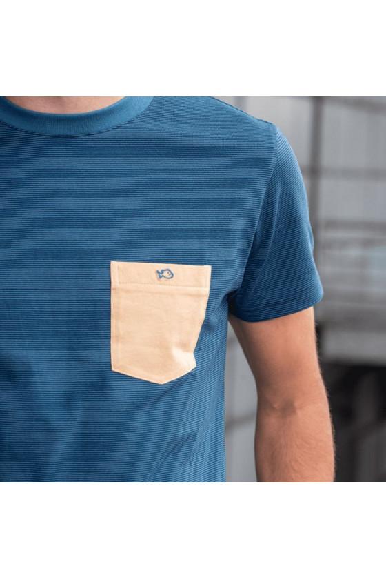 T-Shirt - Rayé Bleu Beige - Billybelt