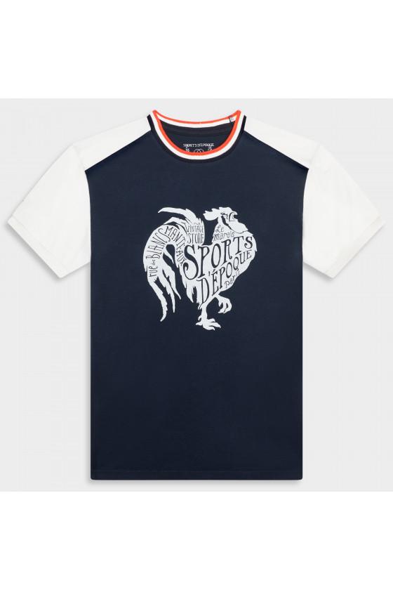 T-shirt Art Déco Bleu