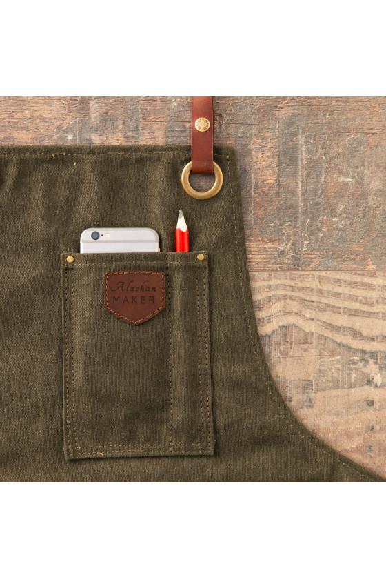 Tablier en Toile de coton Waxé 'Alaskan Maker' N°547