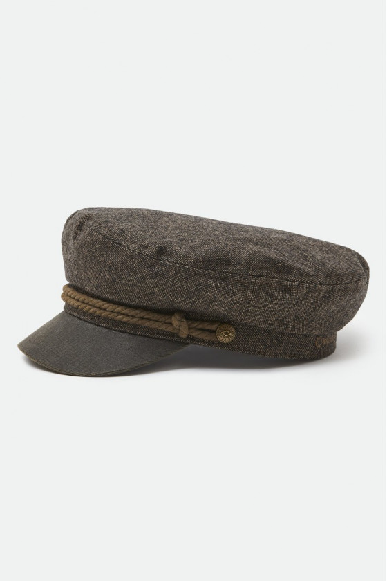 Fiddler Fisherman Cap 'Brixton' Grey - Black