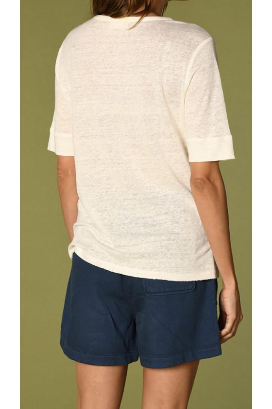 T-shirt Idaloa Écru Harris Wilson